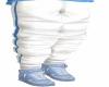 Boys Blue Stripe Pants