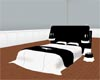 White and Blk rose bed