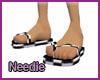 Checkered Flip Flops-M