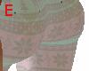 teal christmas leggings