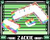 rainbow white couch