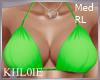 K green bikini top RL