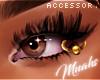 $ Eyelid Piercing - Gold
