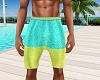 Two Toned Beach Shorts