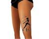 tatoo catwoman leg