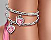 Heart Anklet Pink