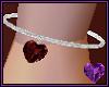 Garnet Heart Anklet