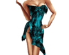 Teal Swirl Dress