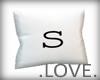 .LOVE. Letter s Pillo
