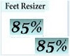 85% Feet Resizer