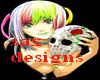 white skull dress