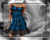 ~V Plaid Sun Dress -B