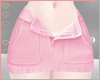 T! Denim Skirt - Pink