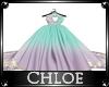 Teal/Purple Wedding Dres
