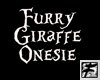 ~F~ Furry Giraffe Onesie
