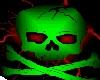 Skys Toxic Skull Flag