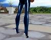 Selena Latex Blue Boots