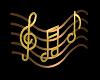 Golden Music Notes