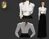 Long skirt & lace blouse
