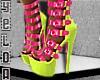 Lime Pink Heels