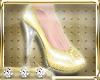 $$$ Golden Sequin Pumps
