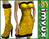 1MVUX Gold Sequin & Fur