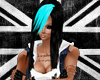 Black/Cyan Aisha