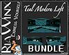 Wx:TEAL MODERN LOFT Set