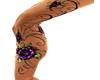 2 Side Flower Leg Tattoo