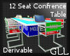 GLL 12 Seat Table Derive