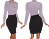 TF* Lilac Blouse & Skirt