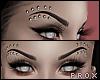 Thin Black Pierced Brows
