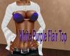 White Purple Flair Top