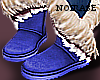 -N- Blue Oats Fur Boots