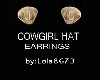 WESTERN HAT EARRINGS(F)
