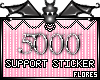 5000 Support Sticker