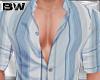 Blue Stripes Shirt L