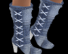 Denim Country Boots