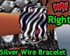 Silver Wire Bracelet -R