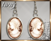 Bathory Cameo Earrings
