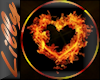Hot heart fire picture