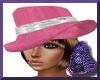 Pink Hat W/Brwn Hair