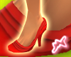 [M] Ruffle Shoes Red