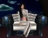 Blue Cuddle Chair