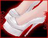 ♀ Latex Heels |White