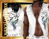 [L] White WOLF Vest M
