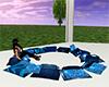 Blue Chat Pillows
