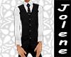 White Shirt & Black Vest