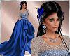 Blue holiday dress