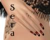 ~Sera~ Red Zebra Nails